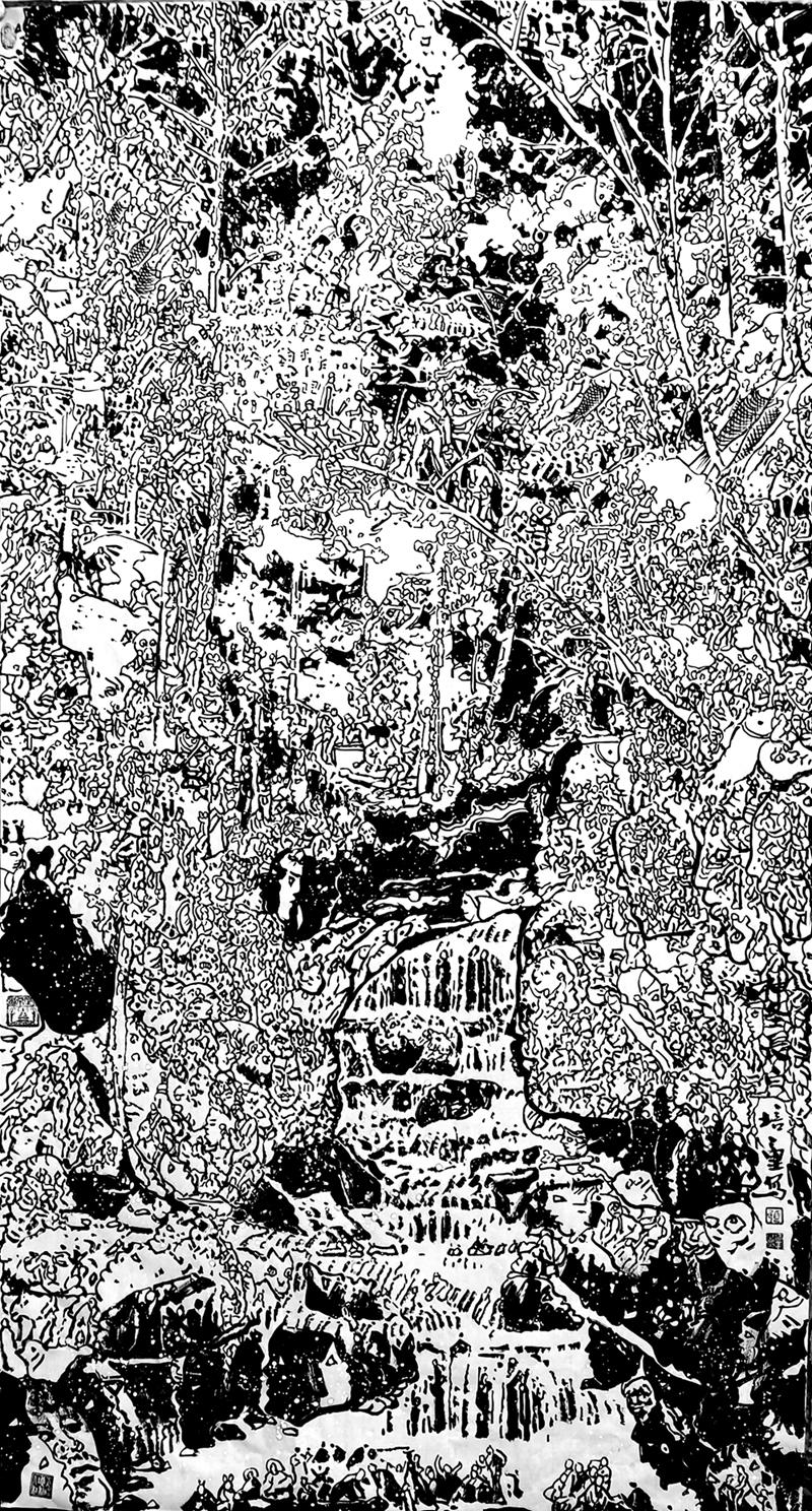 马培童——中国焦墨书画影响力传承人物