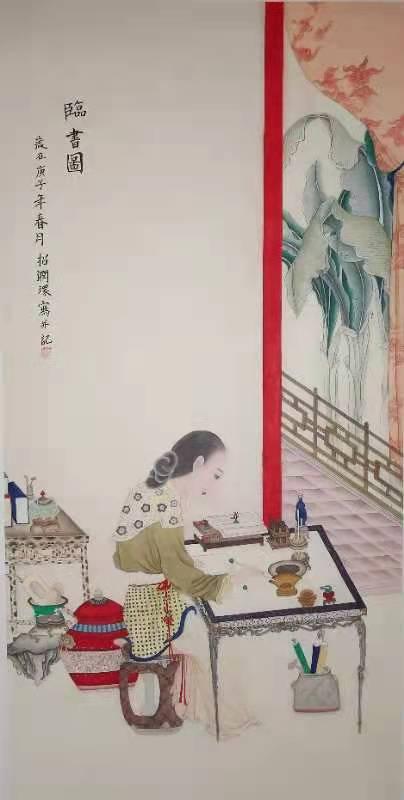 招润环——中宣盛世国际书画院院士、著名书画家